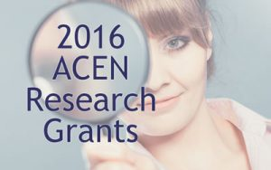 2016 ACEN Research Grants announced
