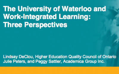 Work-Integrated Learning: Three Perspectives – Canada