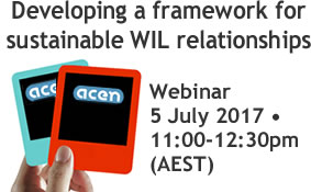 Developing a framework for sustainable WIL relationships – webinar