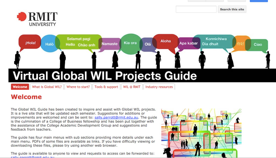 RMIT VGWP Google Site with support resources