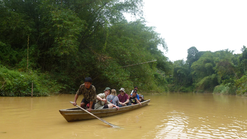boat on river in Sabah
