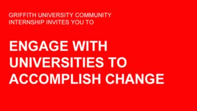 Engaging with universities to accomplish change