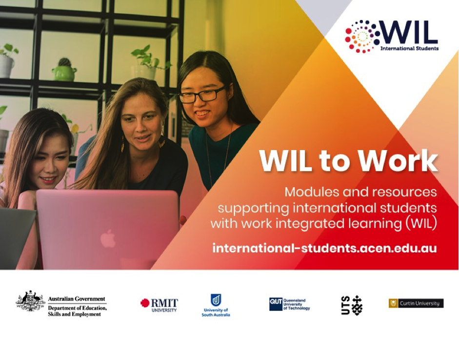 Webinar: Supporting International Students to Succeed in WIL: WIL to Work – 12/11/2020