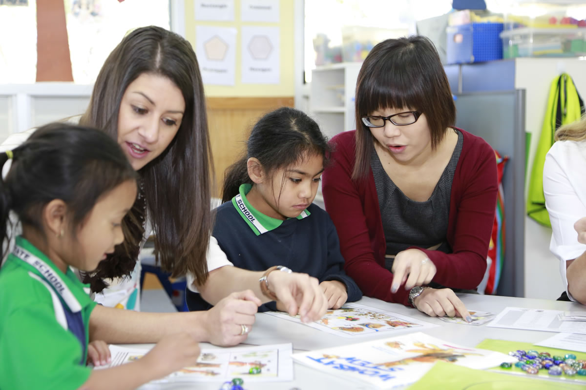 Some of our education students find mentoring small children very rewarding